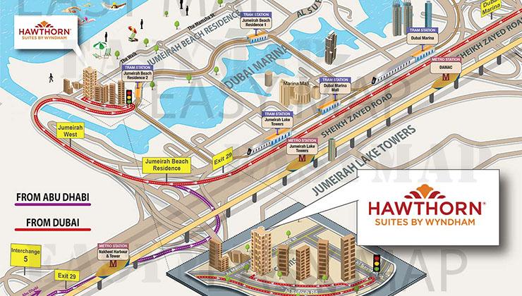 hawthorn location map