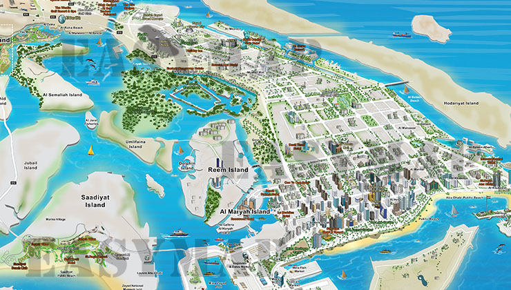 abu dhabi 3d map