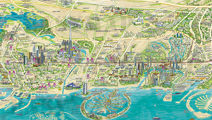 Gallery easy map uaes largest mapping solution provider dubai 3d map gumiabroncs Image collections