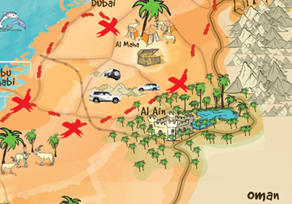 AUH treasure hunt map 1