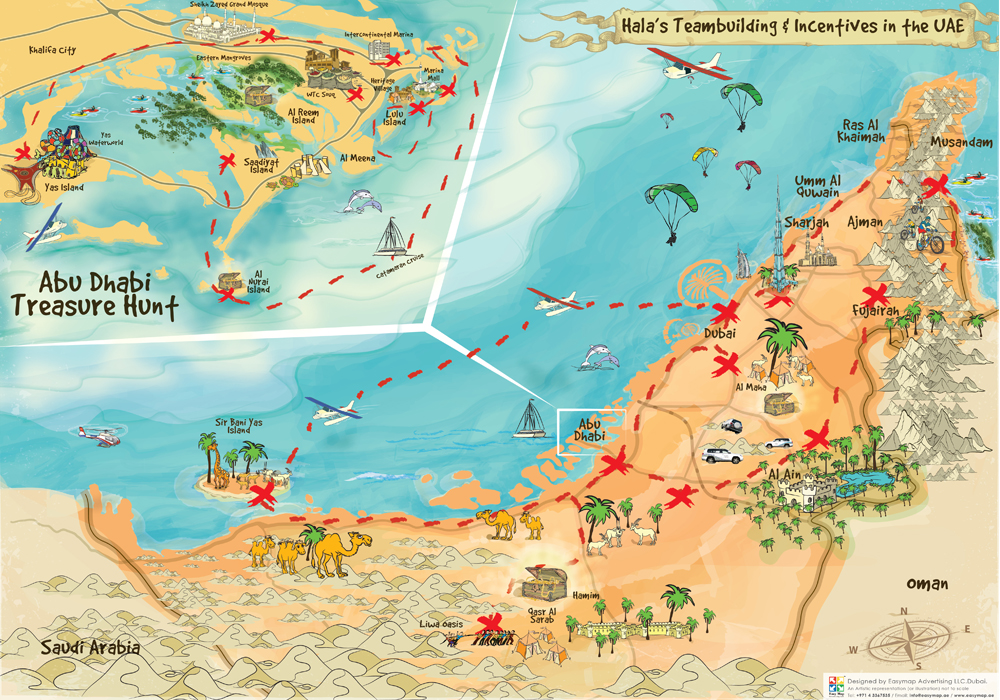 AUH treasure hunt map