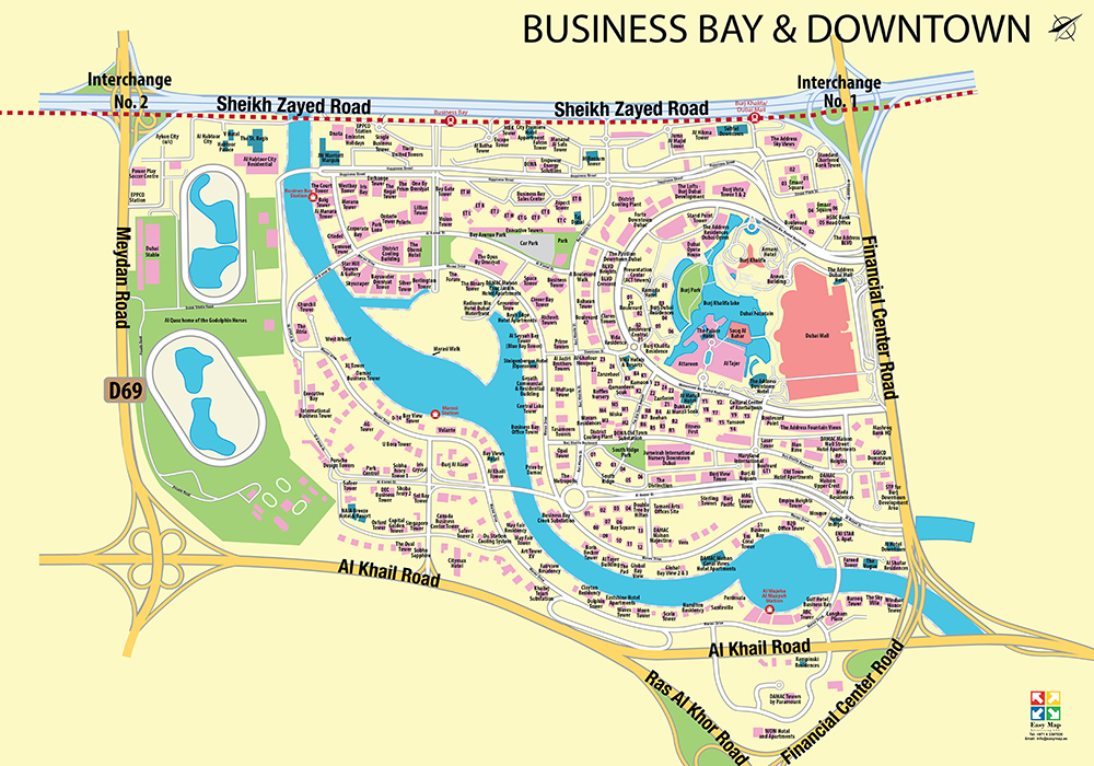 Business Bay And Downtown 73 X 52 cm