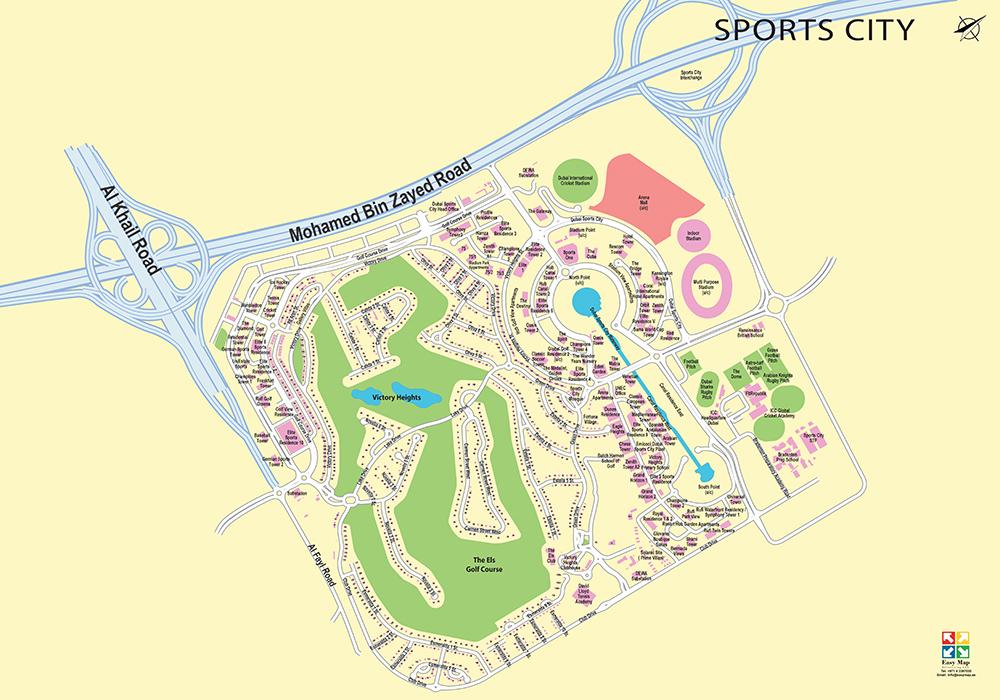 Dubai Sport City 73 cm X 52 CM