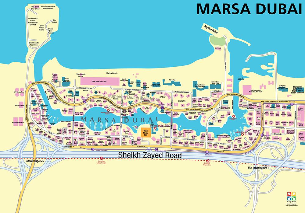Dubai marina 73 X 52 cm