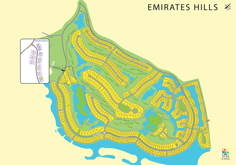 Emirates Hills 73 X 52 cm