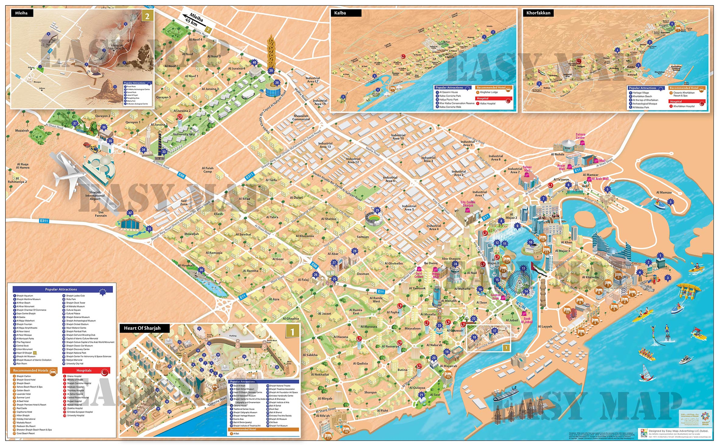 Sharjah New Map