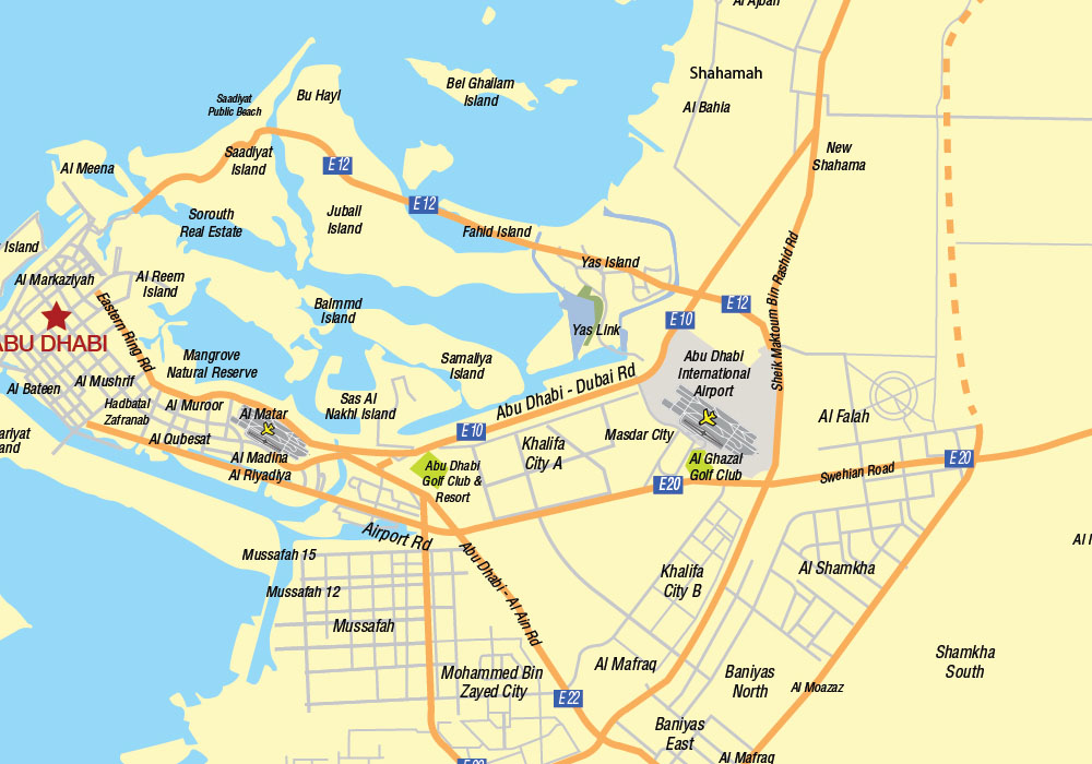 UAE and North emirates map_zoom2
