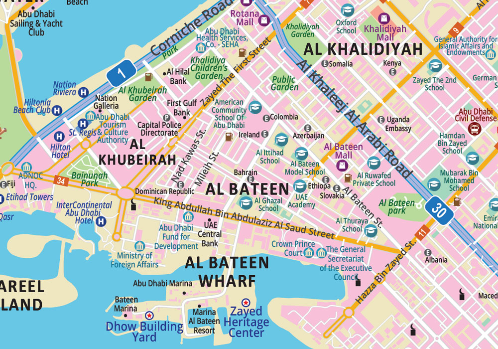 abu dhabi map_zoom1