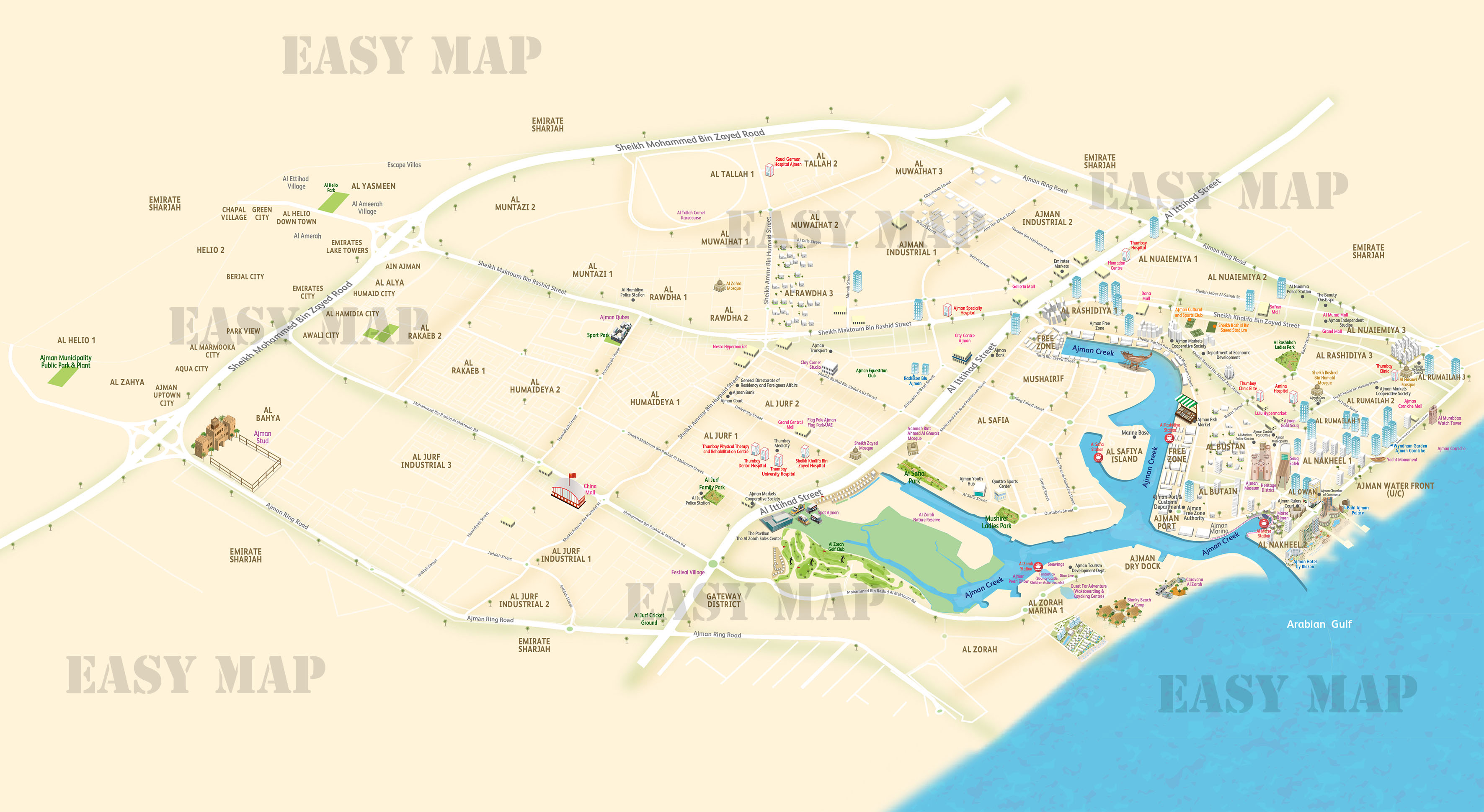 Ajman New Map