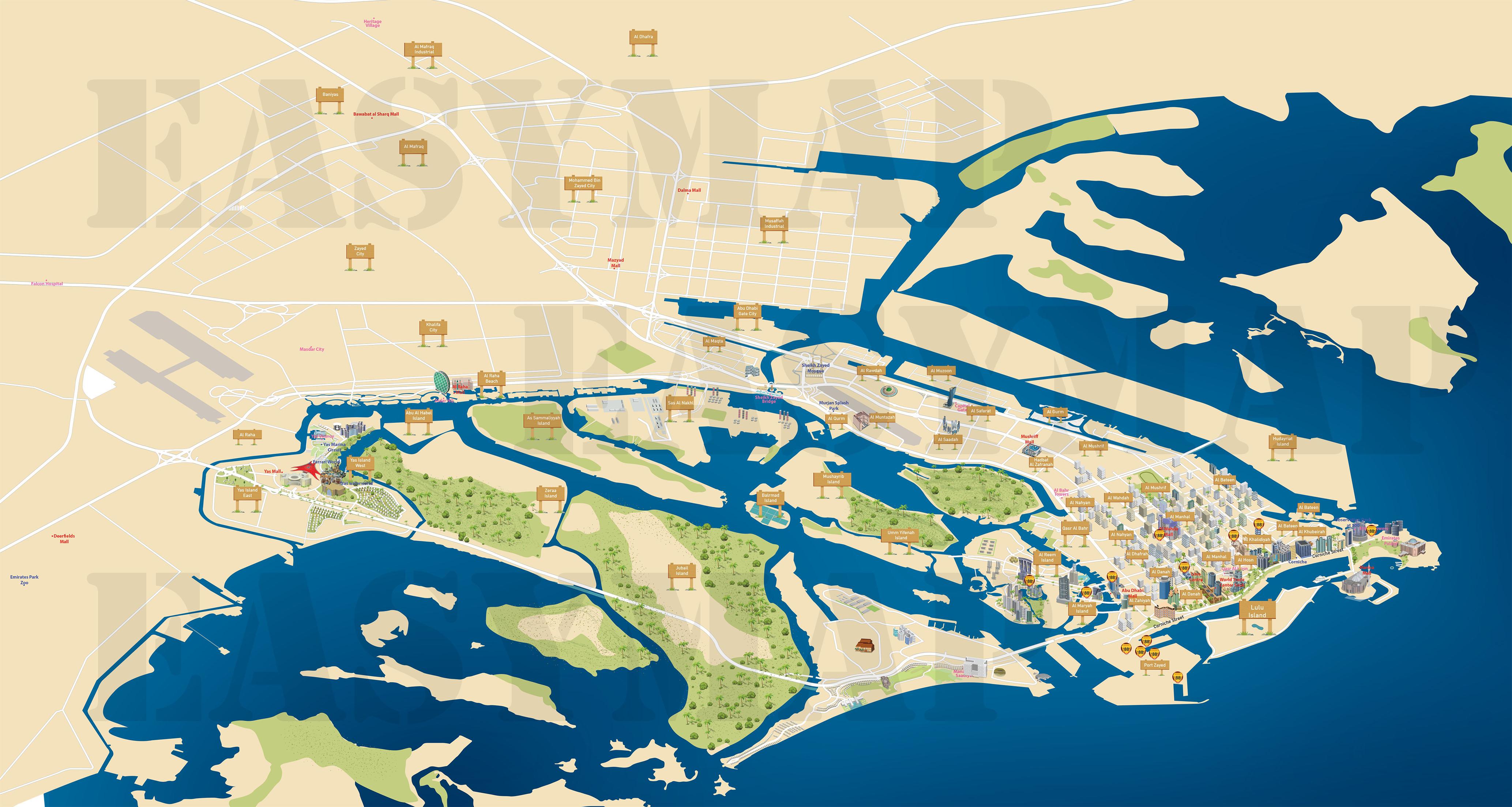 AUH 3d Map