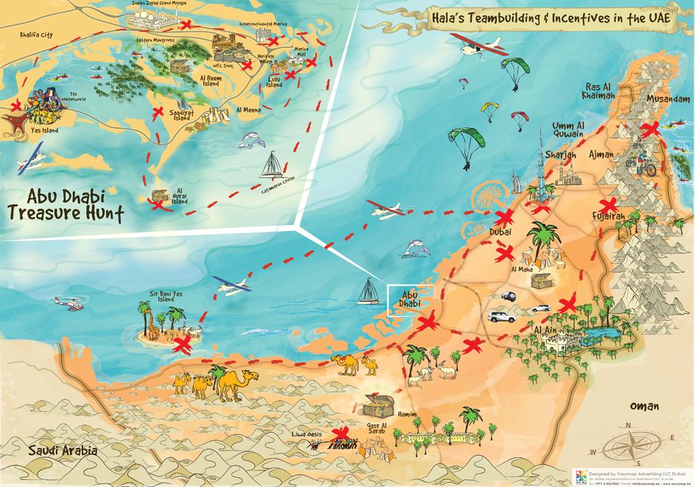 AUH treasure hunt map