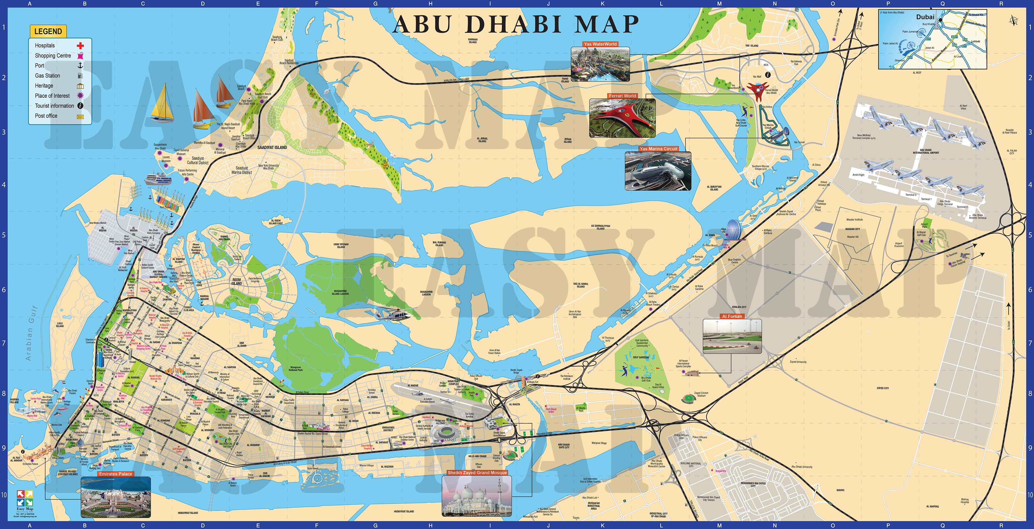 Abu Dhabi 2D map