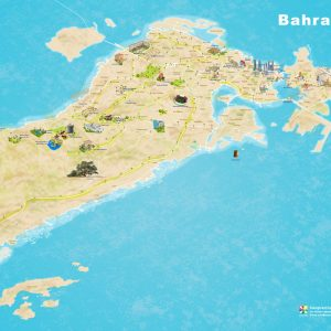 Bahrain 3D map