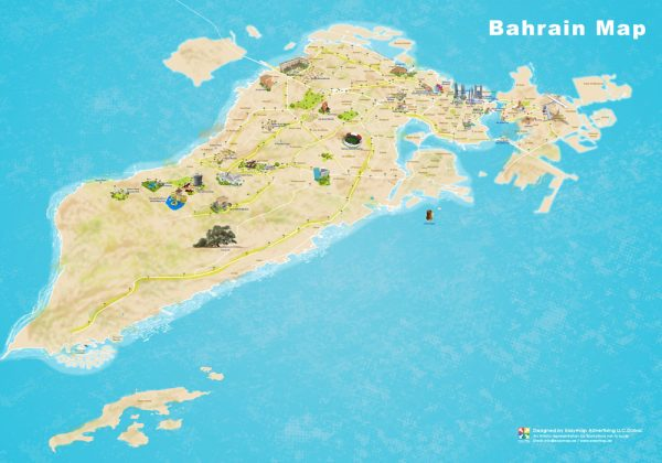 Bahrain 3D map