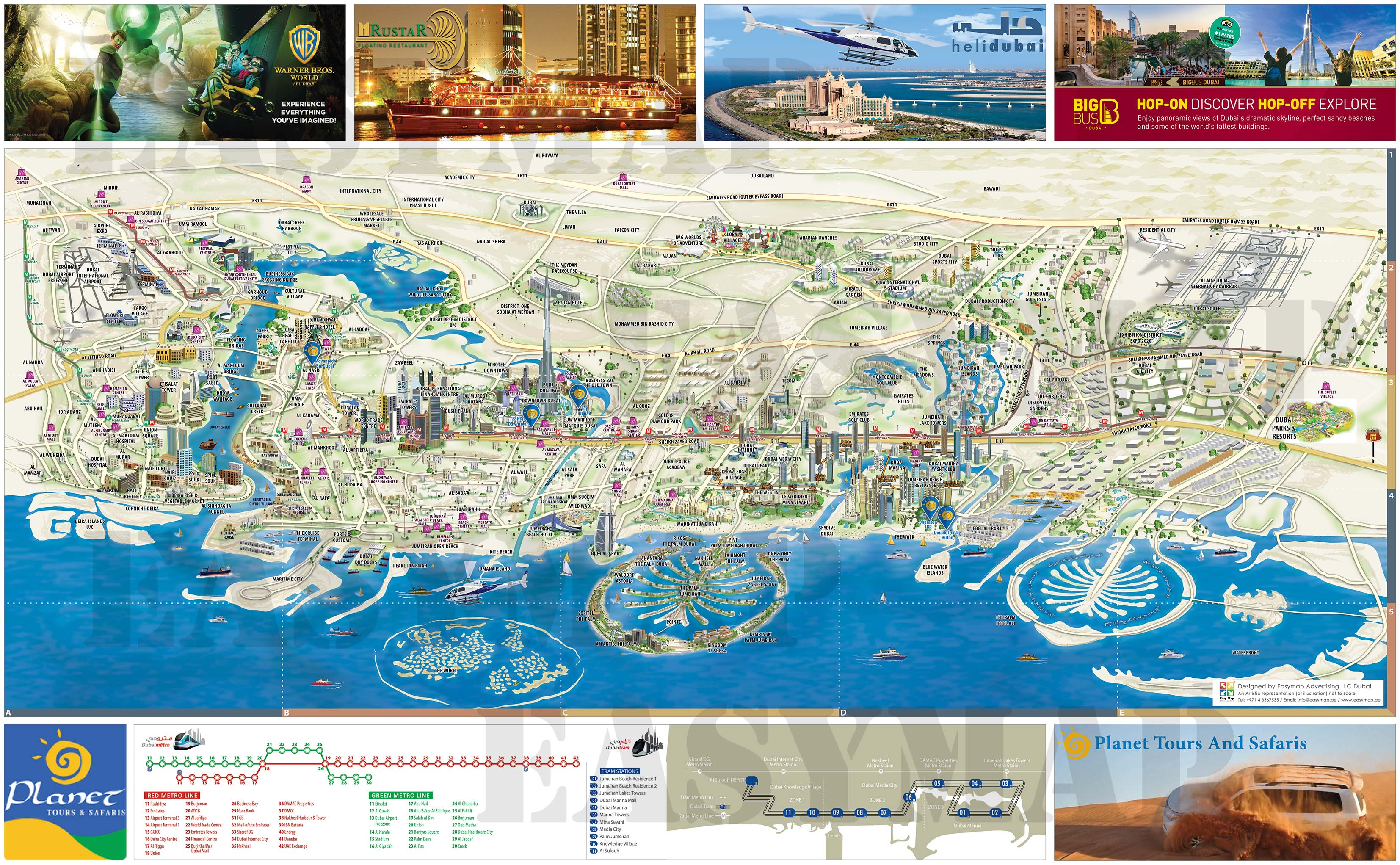 Planet Travel and Tours Map