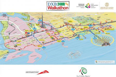 Dubai Walkathon Map