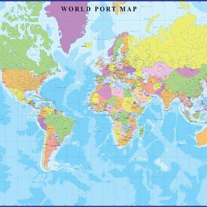 World Port Map